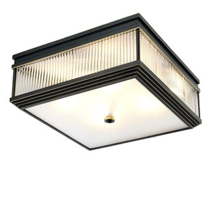 Marly Cubic Glass 4-Light Flush Mount by Eichholtz