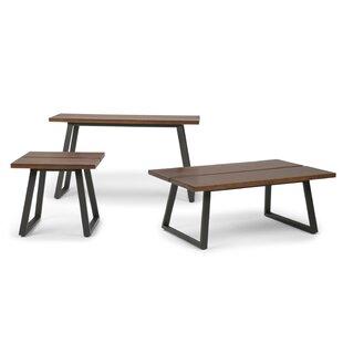 Adler 3 Piece Coffee Table Set Simpli Home Lovely