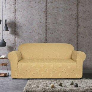 Shop Flower Jacquard Sofa Slipcover by Winston Porter