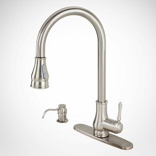 Kokols Pull Out Single Handle Kitchen Faucet with Side Spray