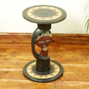 Shaughnessy Queen of Africa End Table by Bloomsbury Market