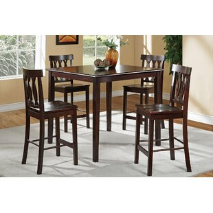 Chuckanut 5 Piece Counter Height Solid Wood Dining Set