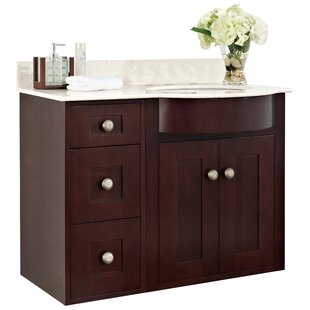 Tiffany 36 Transitional Wall Mount Vanity Base by American Imaginations