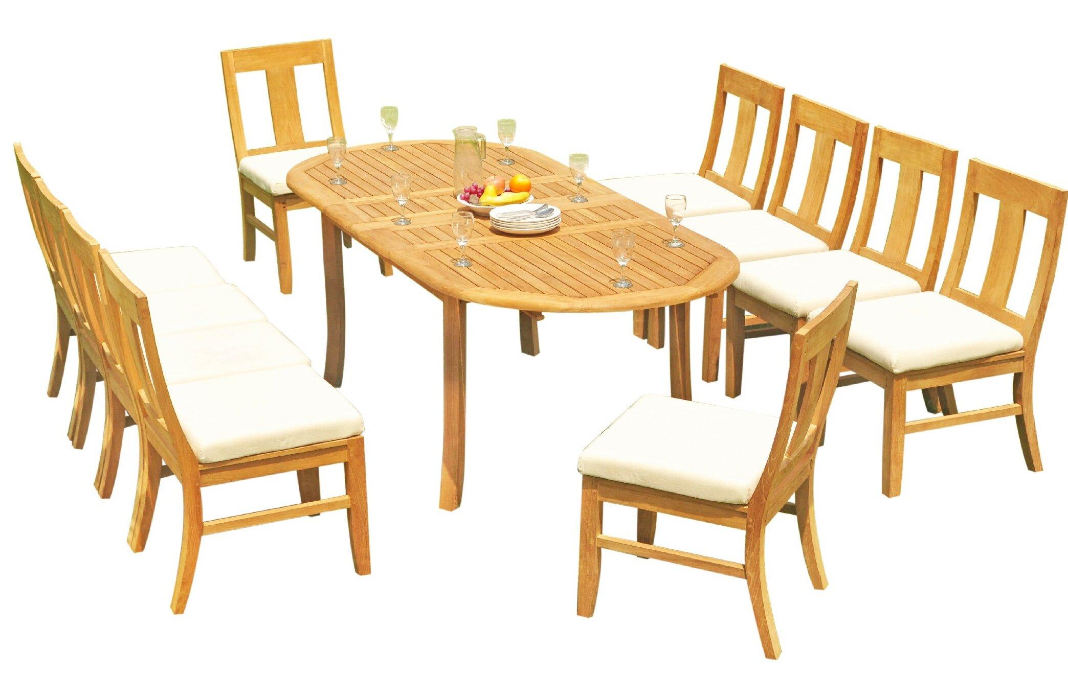 Rosecliff Heights Kevon 11 Piece Teak Dining Set