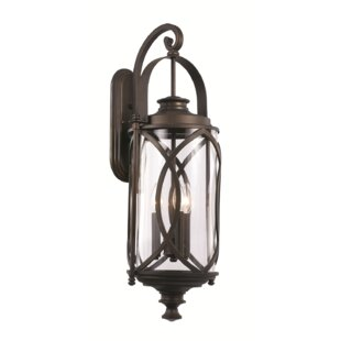 Ginsburg 3-Light Outdoor Wall Lantern by Bungalow Rose