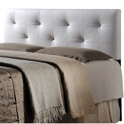 Orren Ellis Eladia Upholstered Panel Headboard Size: Full, Upholstery: White