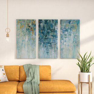 U0027I Love The Rainu0027 Acrylic Painting Print Multi Piece Image On Gallery  Wrapped Canvas