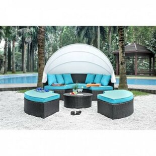 Retha Patio Daybed With Cushions By Brayden Studio