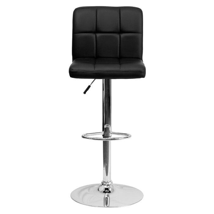 Pleasing Hirano Adjustable Height Swivel Bar Stool Creativecarmelina Interior Chair Design Creativecarmelinacom