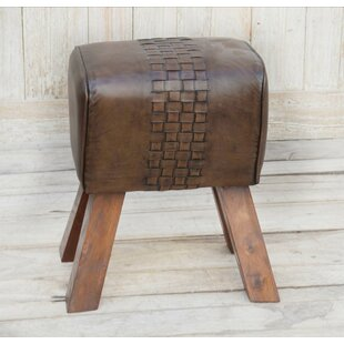 Brough Leather Stool By Borough Wharf