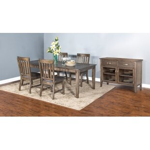 Jayme 5 Piece Dining Set Union Rustic