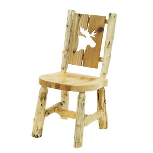 Traditional Cedar Log Cut Out Solid Wood Dining Chair Fireside Lodge