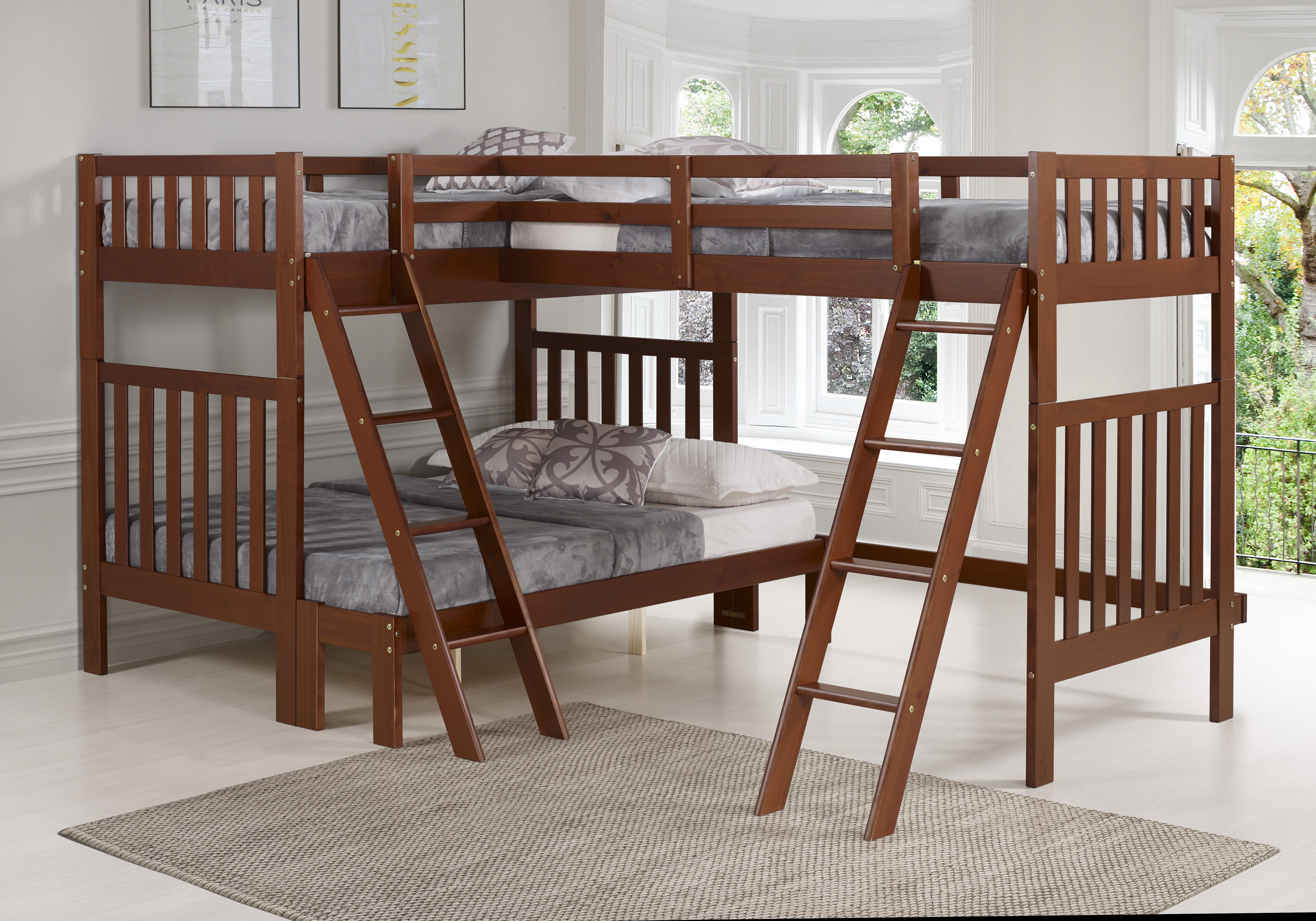 Picture of: Harriet Bee Reasor Twin Over Full L Shaped Bunk Bed Reviews