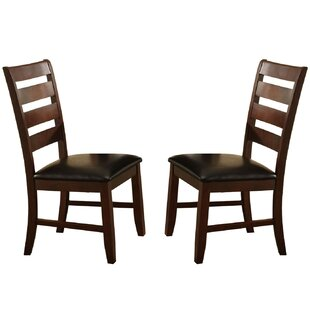 Clio Ladder Solid Wood Dining Chair (Set of 2) Millwood Pines