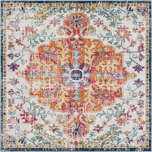 Hillsby Blue Orange Area Rug
