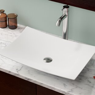 Looking for Vitreous China Rectangular Vessel Bathroom Sink By MR Direct