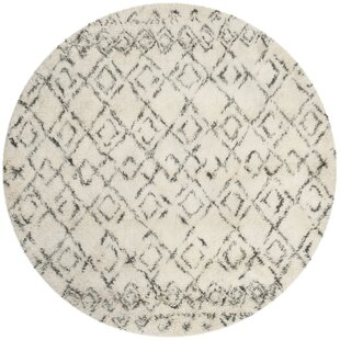 Gholston Hand-Tufted Cotton White/Gray Area Rug by Mercury Row