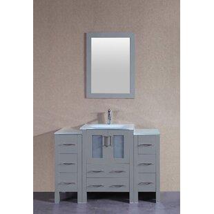 Dunham 48 Single Bathroom Vanity Set with Mirror by Bosconi