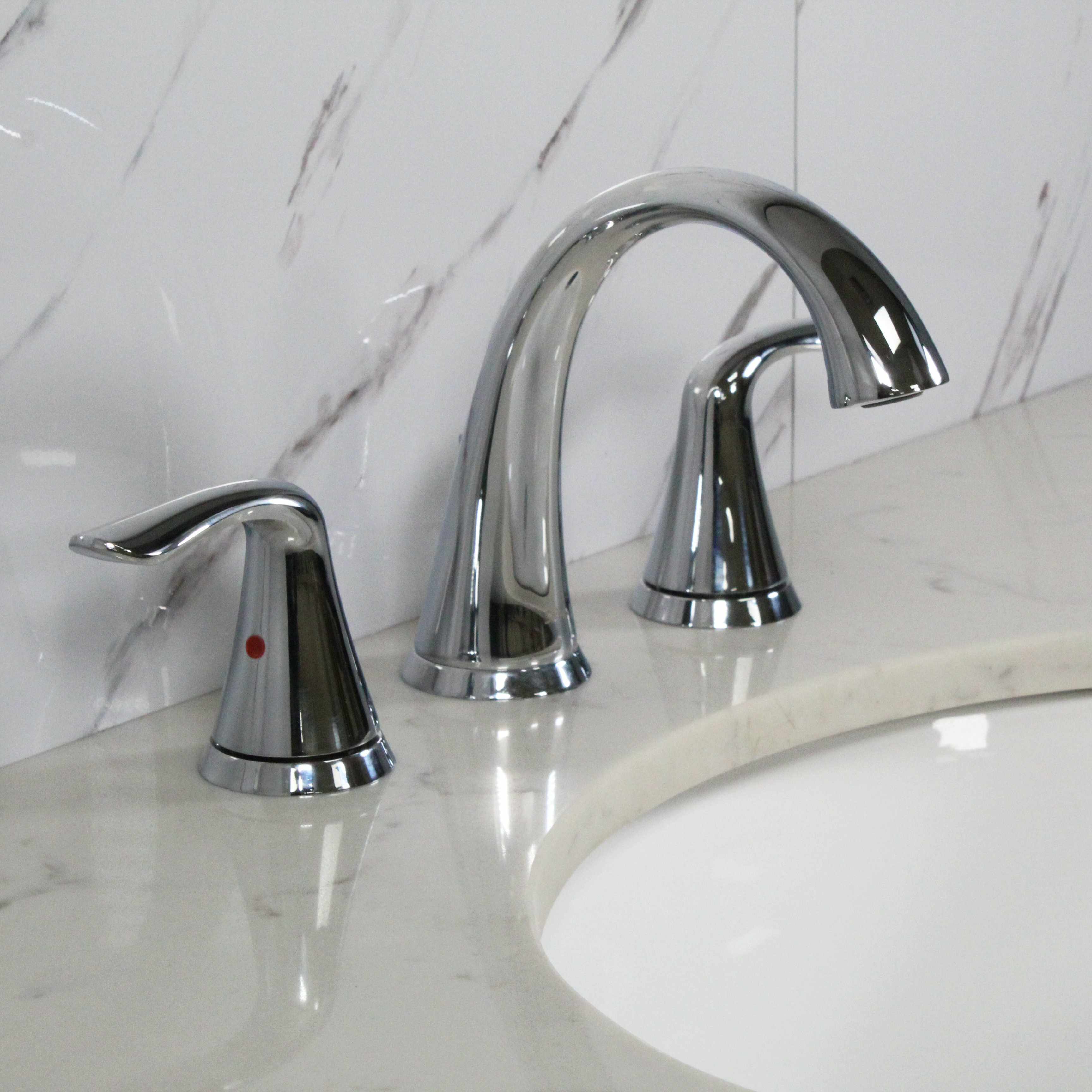 Spring Widespread Bathroom Faucet with Drain Assembly