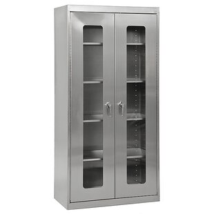 Clear View 2 Door Storage Cabinet by Sandusky Cabinets Savings