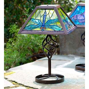 Outdoor Table Light Outdoor solar table lamps wayfair tiffany solar outdoor 125 table lamp workwithnaturefo