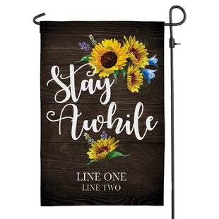 Stay Awhile Polyester 1'5 X 1 Ft. Garden Flag By CPS
