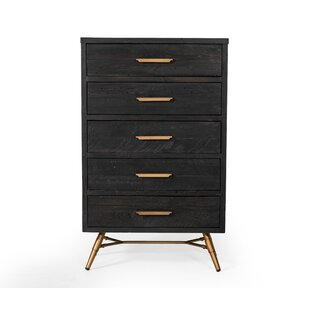 Reviews Haslingden 5 Drawer Chest by Wrought Studio