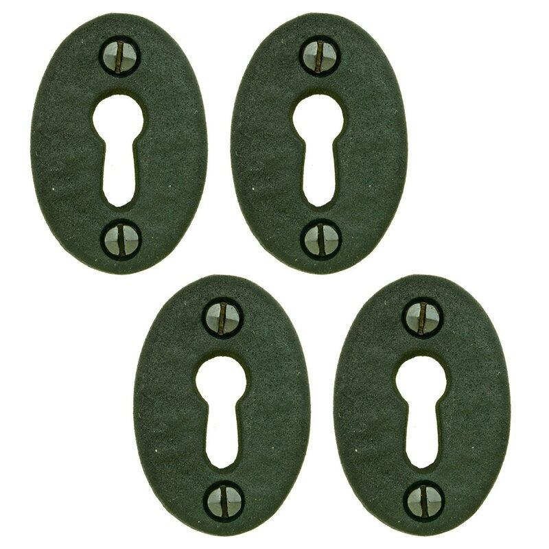 "2 3//4/"" Keyhole Cover Plate Escutcheon Furniture Key Hole Cover Brass Lock Plate"