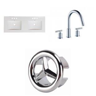 3 Hole Ceramic 48 Double Bathroom Vanity Top By American Imaginations