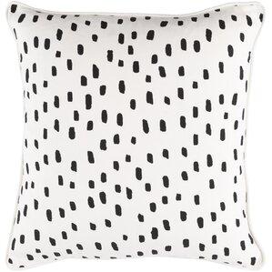 carnell dalmatian dot cotton throw pillow cover