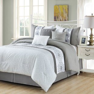 Alcott Hill Hasson Embroidery 7 Piece Comforter Set