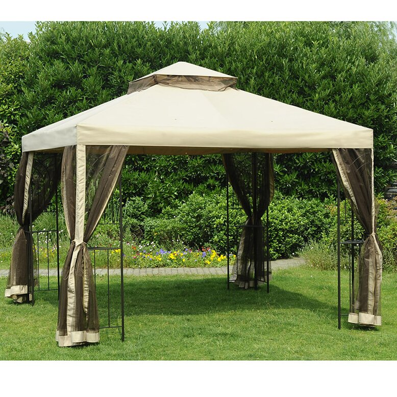 Replacement Canopy for 10u0027 W x 10u0027 D Easy Set Up Gazebo & Sunjoy Replacement Canopy for 10u0027 W x 10u0027 D Easy Set Up Gazebo ...