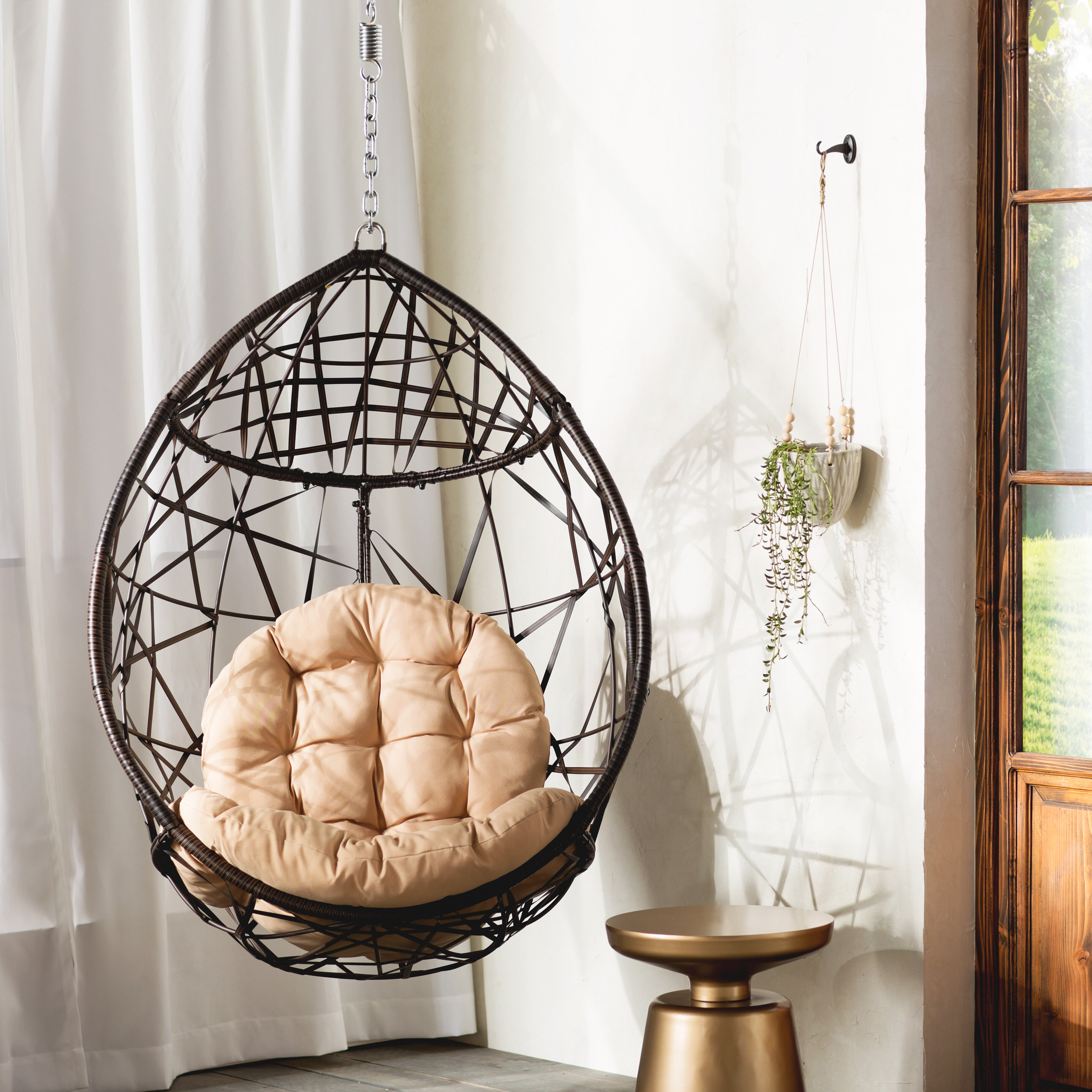 Mistana Destiny Tear Drop Swing Chair With Stand Reviews