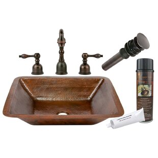 Find a Hammered Metal Rectangular Undermount Bathroom Sink with Faucet By Premier Copper Products