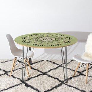 East Urban Home Star Mandala Dining Table