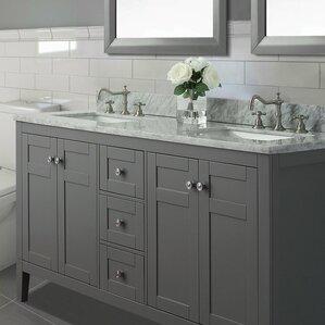 Wayfair Bathroom Vanity Interesting Carrera Marble Vanity  Wayfair Inspiration