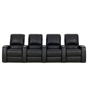 Large Home Theater Curved Row Seating Row of 4 by Latitude Run