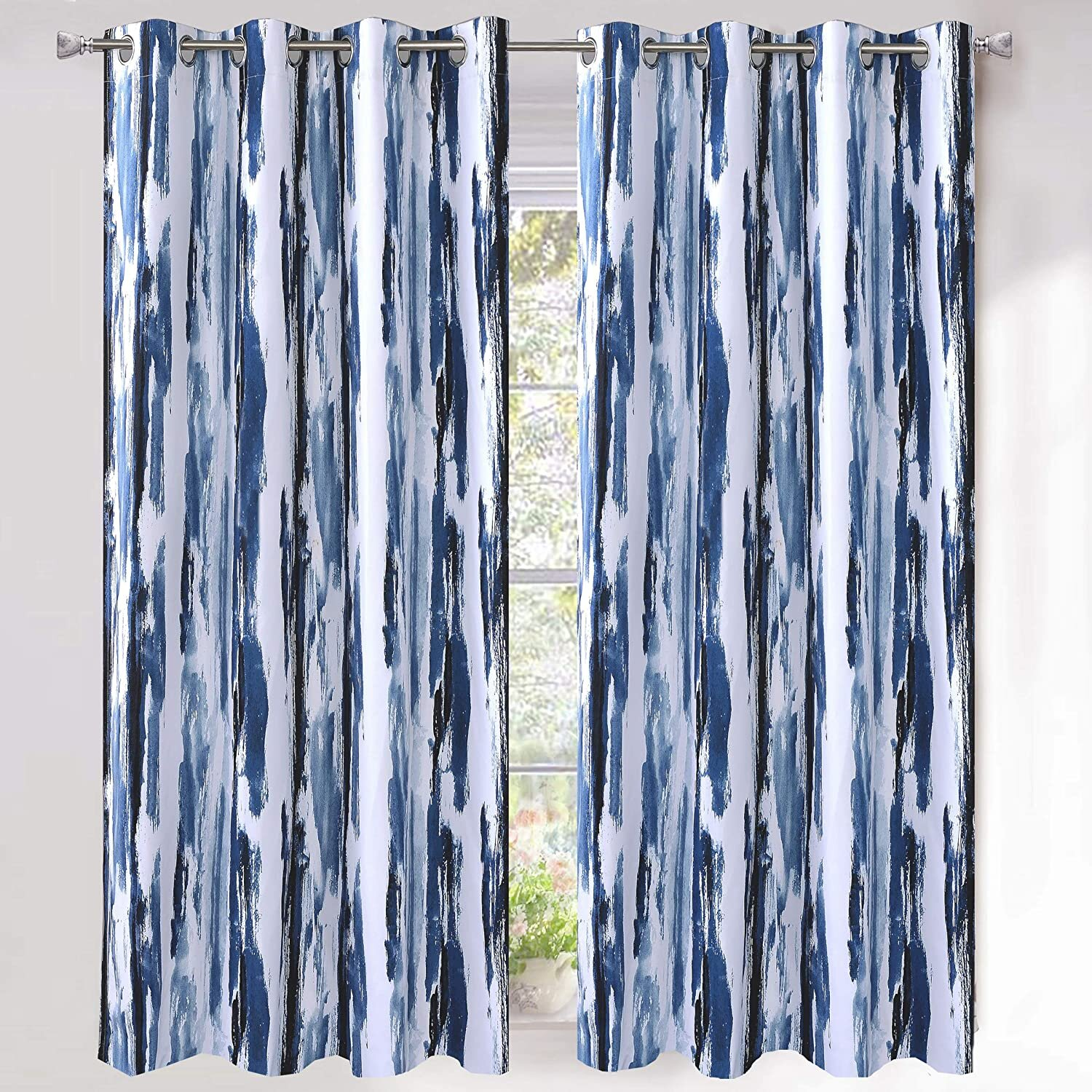 Abstract Industrial Curtains Drapes You Ll Love In 2021 Wayfair