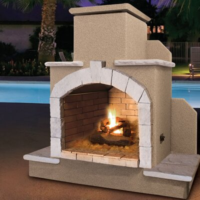Steel Gas Outdoor Fireplace Cal Flame