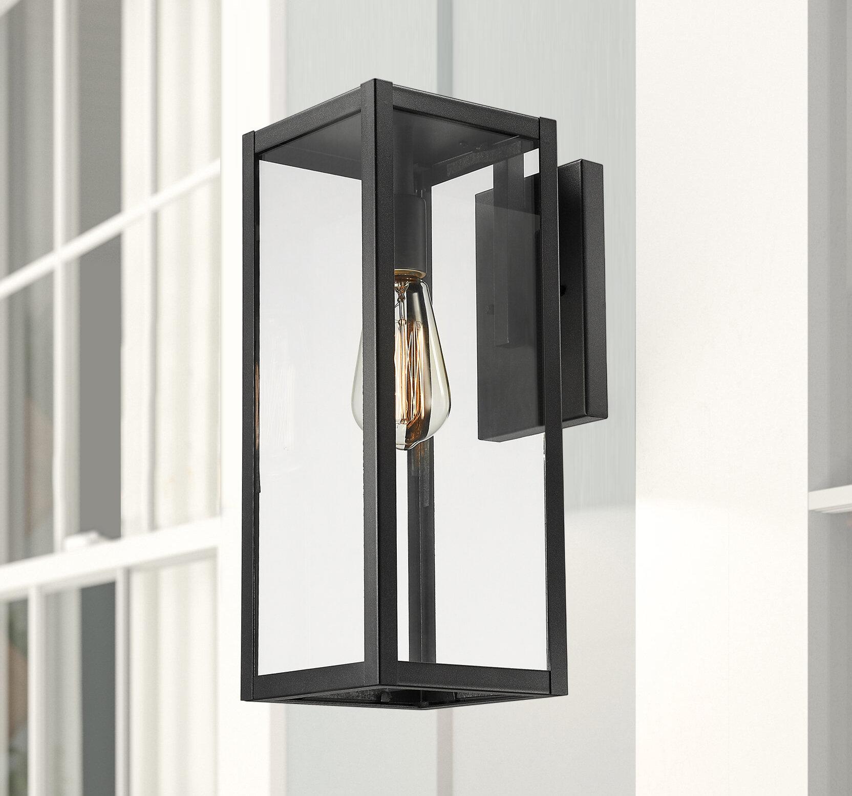 Sol 72 Outdoor Verdell Black 1 Bulb 15 H Outdoor Wall Lantern Reviews Wayfair