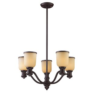 Hedberg 5-Light Shaded Chandelier by Alcott Hill