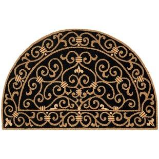 Best Price Brayton Black & Iron Gate Handmade Wool Area Rug ByFleur De Lis Living