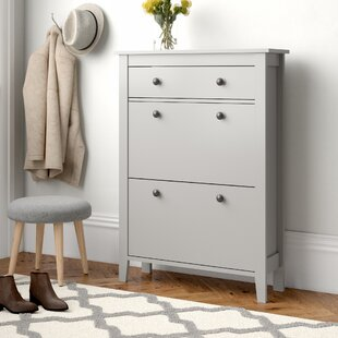 Wooden 12 Pair Shoe Storage Cabinet By Brambly Cottage