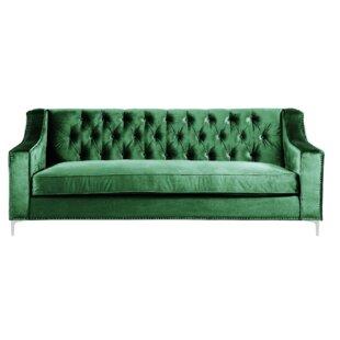 Emerald Green Velvet Sofa Wayfair Co Uk