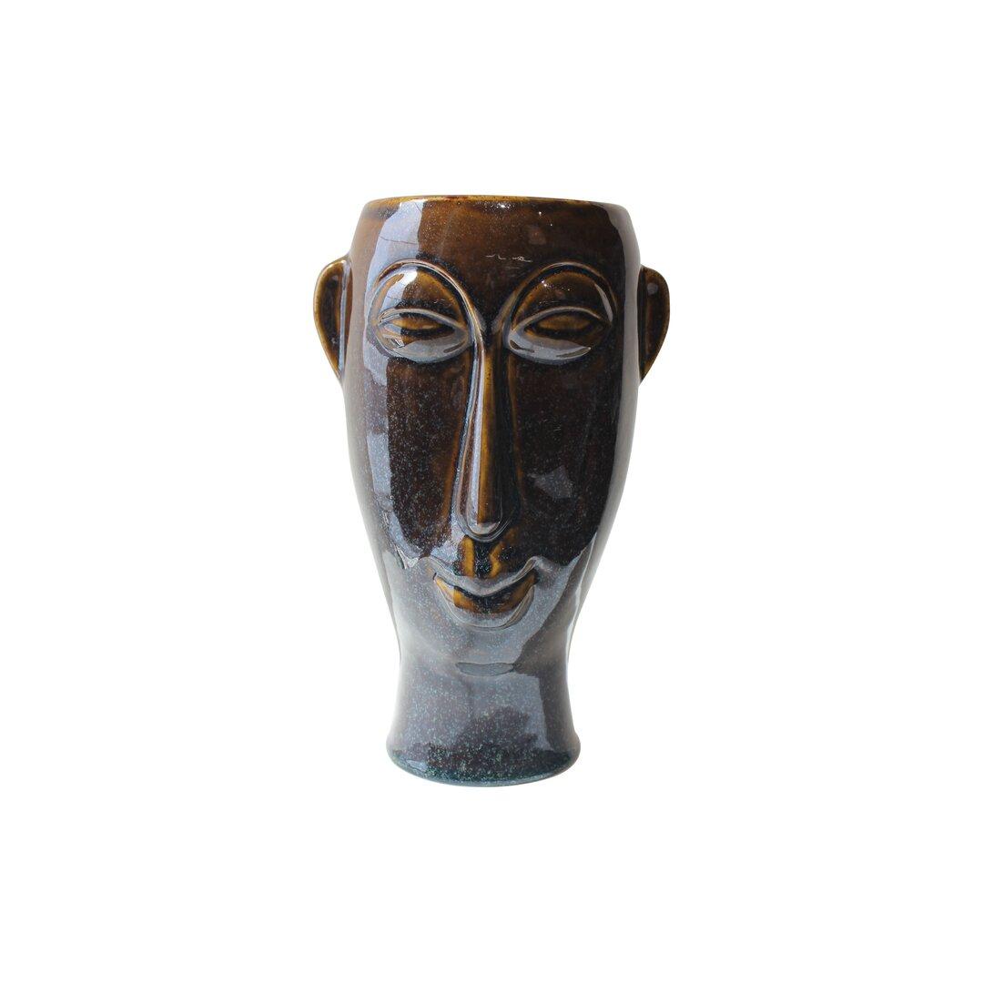 Mask Ceramic Statue Planter