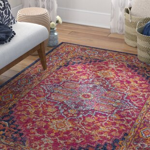 Read Reviews Koval Pink/Orange Area Rug By Mistana