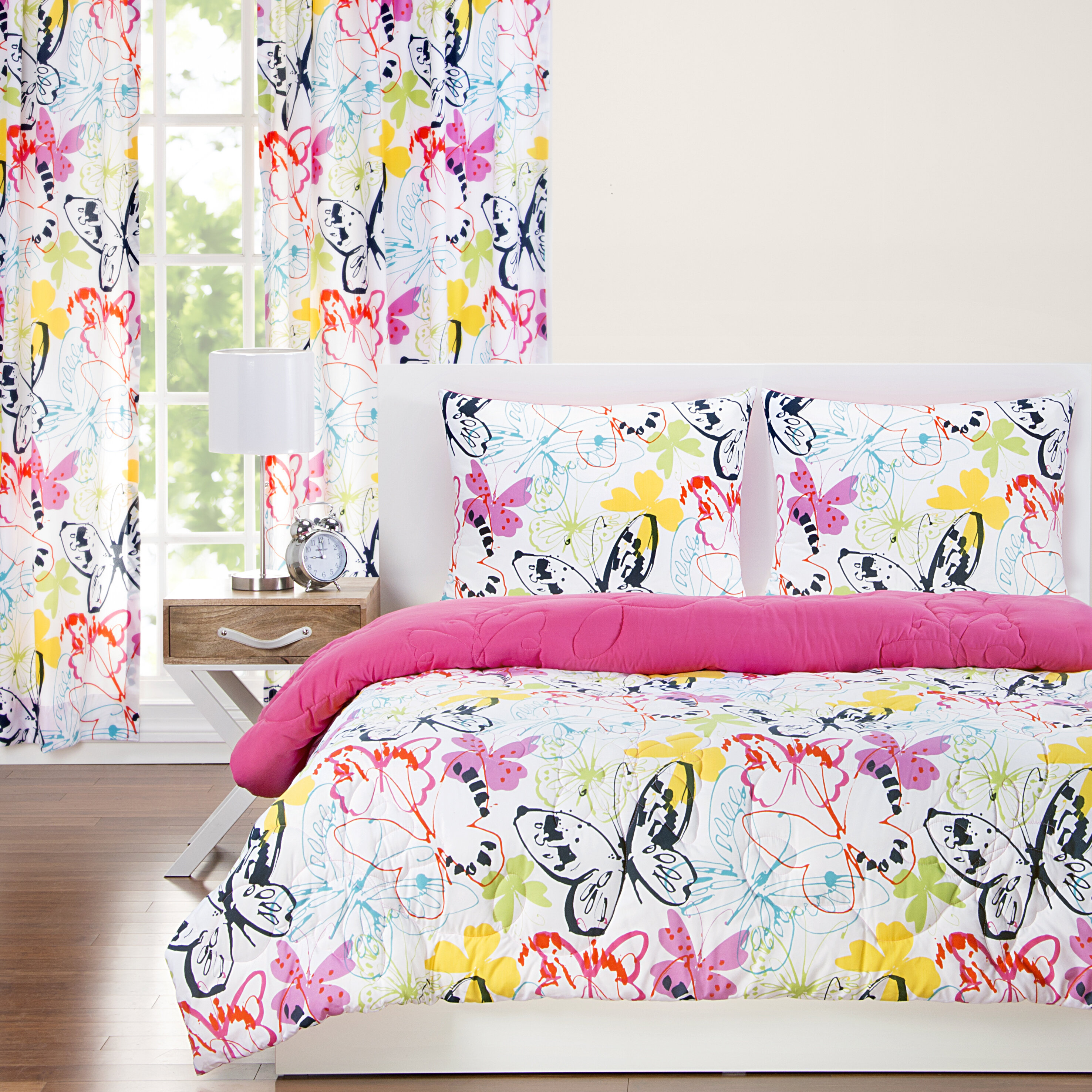 Crayola Flutterby Reversible Comforter Set Reviews Wayfair