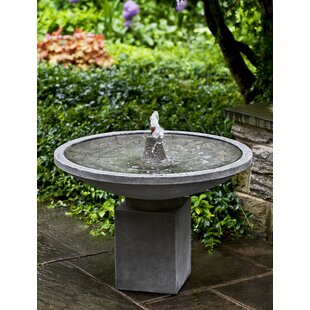 Campania International Autumn Concrete Leaves Fountain