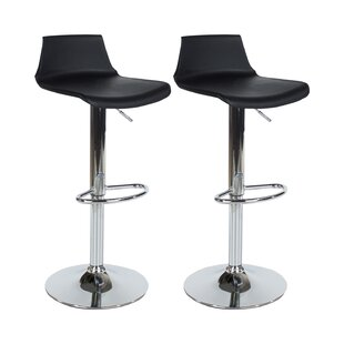 Pansy Height Adjustable Swivel Bar Stool (Set Of 2) By 17 Stories