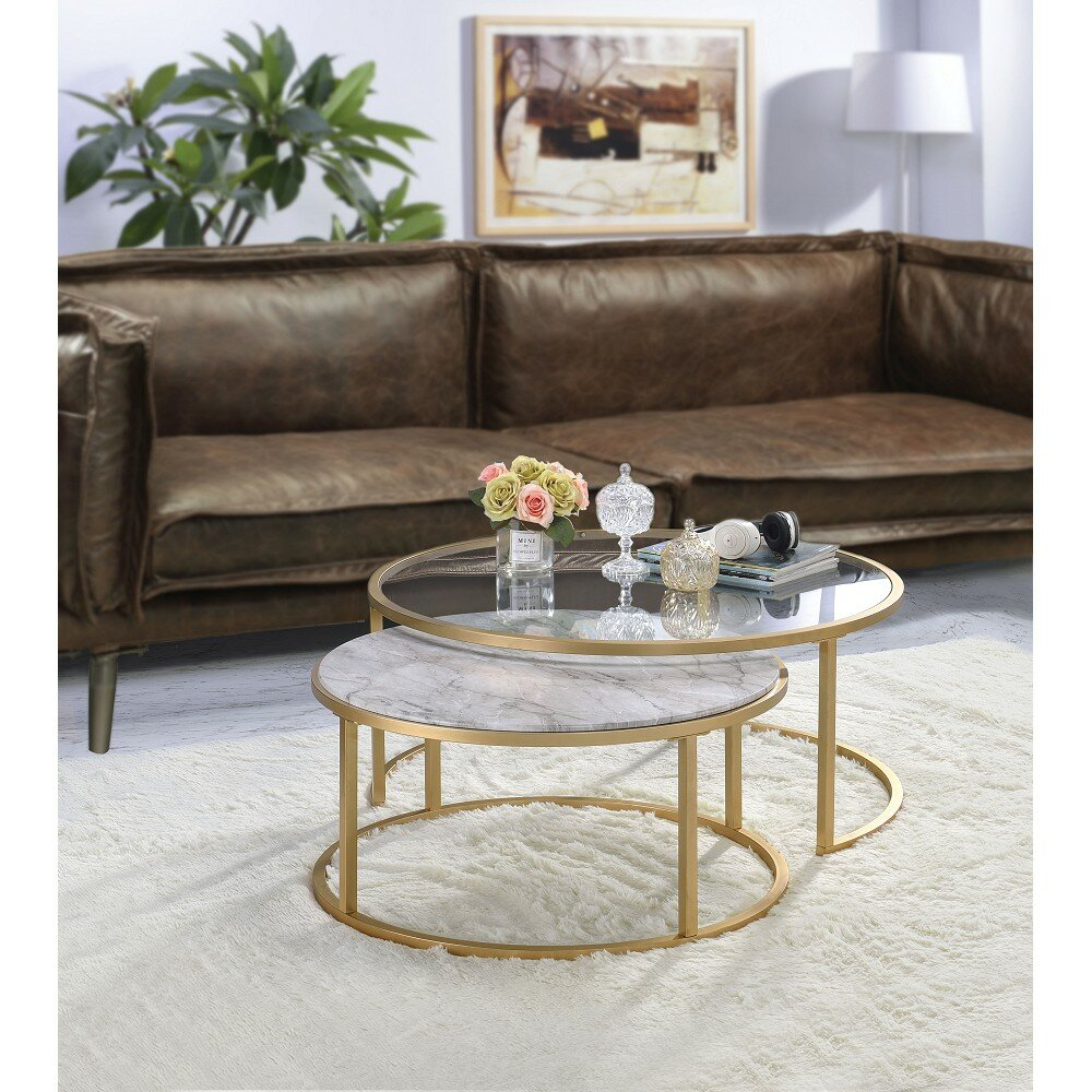 Mercer41 Gehlert 2 Piece Coffee Table Set Wayfair